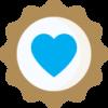 Bronze badge heart
