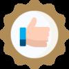 Bronze badge like