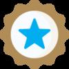 Bronze badge star